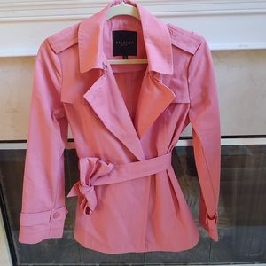 Talbots Pink Trench Coat